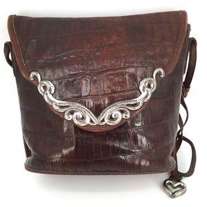 BRIGHTON Leather Purse Bucket Bag Crossbody Brown